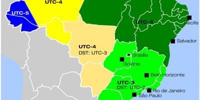 Cartina Fusi Orari Mondo.Fusi Orari In Brasile Mappa Mappa Dei Fusi Orari Di Brasile America Del Sud America
